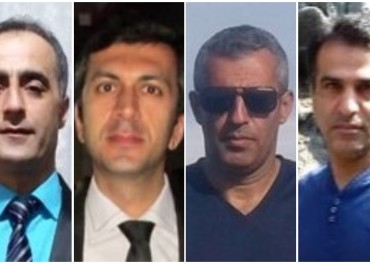 De fire konvertittene soner i Iran: Fra venstre: Khalil, Mohammed, Kamal og Hossein.
