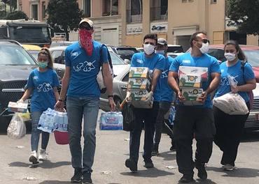 Et team fra Resurrection Church Beirut rykker ut for å hjelpe til etter katastrofen i Beirut.