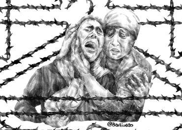 Badiucao er en kinesisk kunster med base i Australia. Han har laget flere illustrasjoner for å belyse overgrepene mot uigurer.