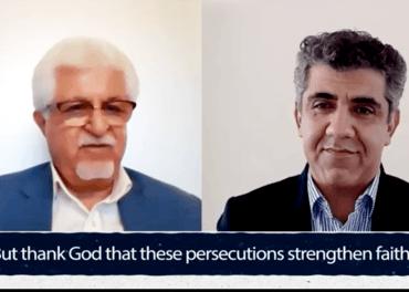 Kristne i Iran: Victor Bet-Tamraz rømte Iran for å slippe ti år i fengsel. Til høyre: Manjour Borij fra Article 18.