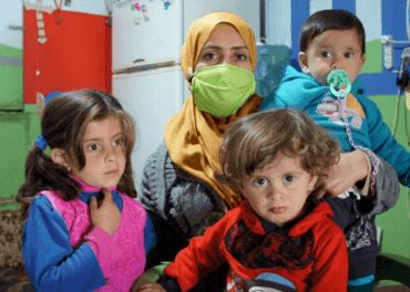 Jana og hennes tre barn er flyktninger i Libanon fra borgerkrigen i Syria.