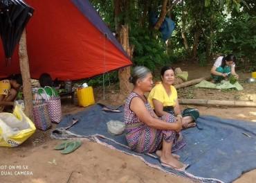 Stefanusalliansens partner har med midler fra oss, skaffet mat - her til mennesker på flukt i Kayah-staten.