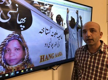 Vår partner Human Friends Organization ledet av Sajid Christopher Paul stod sentralt i kampen som førte til at Asia Bibi ble frikjent og satt fri. (Foto: Johannes Morken)