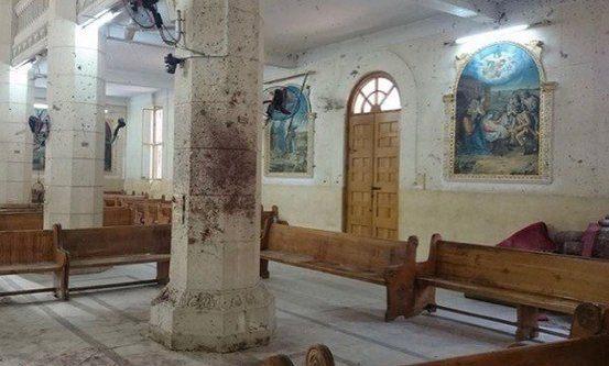 Kirken i Tanta ble angrepet av terrorister påsken 2017. (Foto: World Watch Monitor)