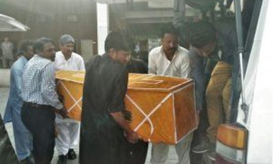 Omkomne i Quetta. Foto: Morning Star News