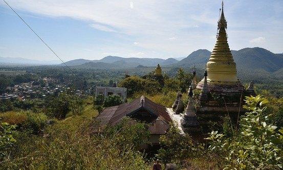Shwe Indein-pagoden, Shan-staten. Flickr / Kent MacAlwee