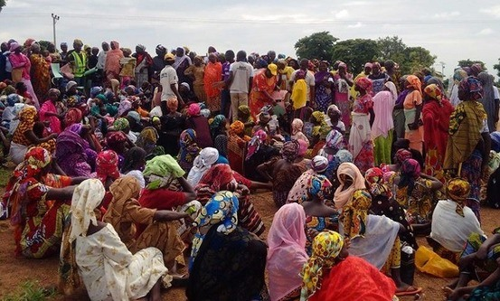 Nigerianske internflyktninger. Foto: World Watch Monitor