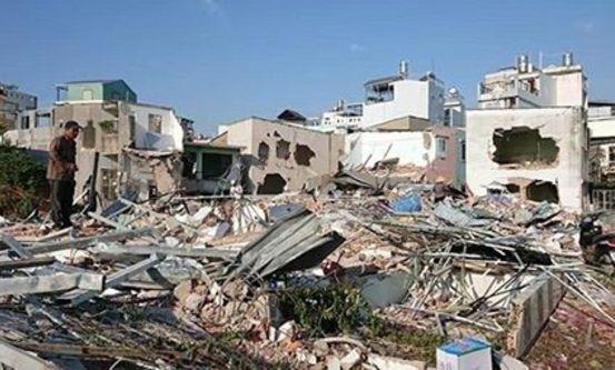 Ødelagte katolske hjem. Foto: CSW