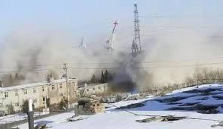 Golden Lampstand-kirken ble revet av kinesiske myndigheter 9. januar 2018. Foto: China Aid