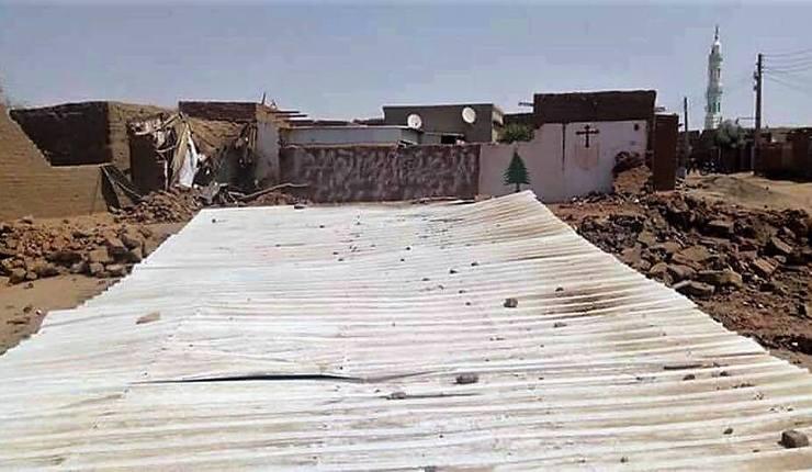 Kirken som ble rasert i Haj Yousif 11. februar