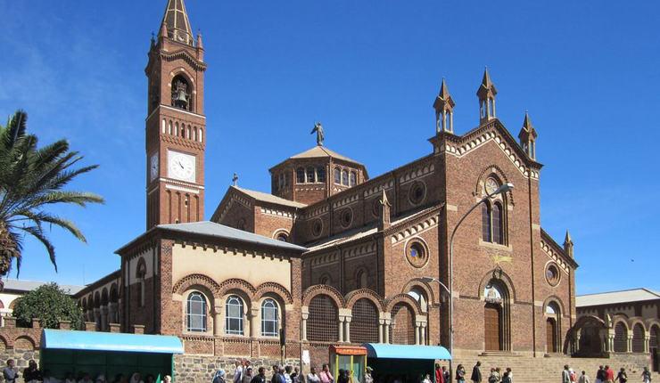 Foto: Katolsk katedral i Asmara. Flickr/David Stanley