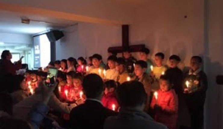 Foto: Barnemøte i Early Rain-kirken. ChinaAid