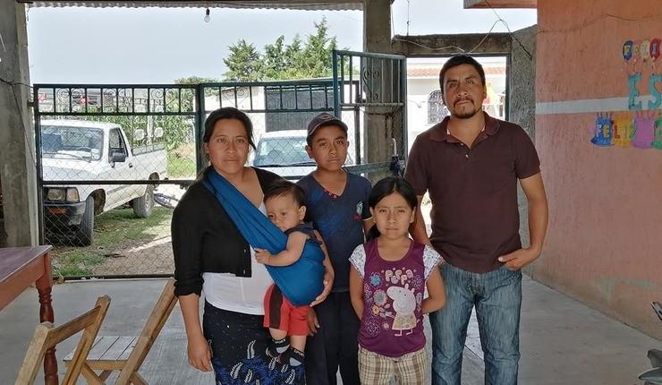En protestantisk familie som opplevde forfølgelse. Foto: Mision 21 Gramos