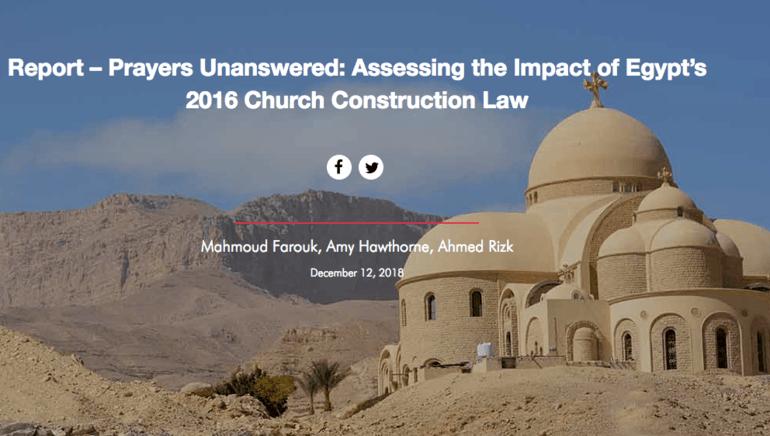 Egypt: Rapporten «Unanswered prayers» viser hvor sakte det går med å løse dyp diskriminering som begrenser kristnes trosfrihet.
